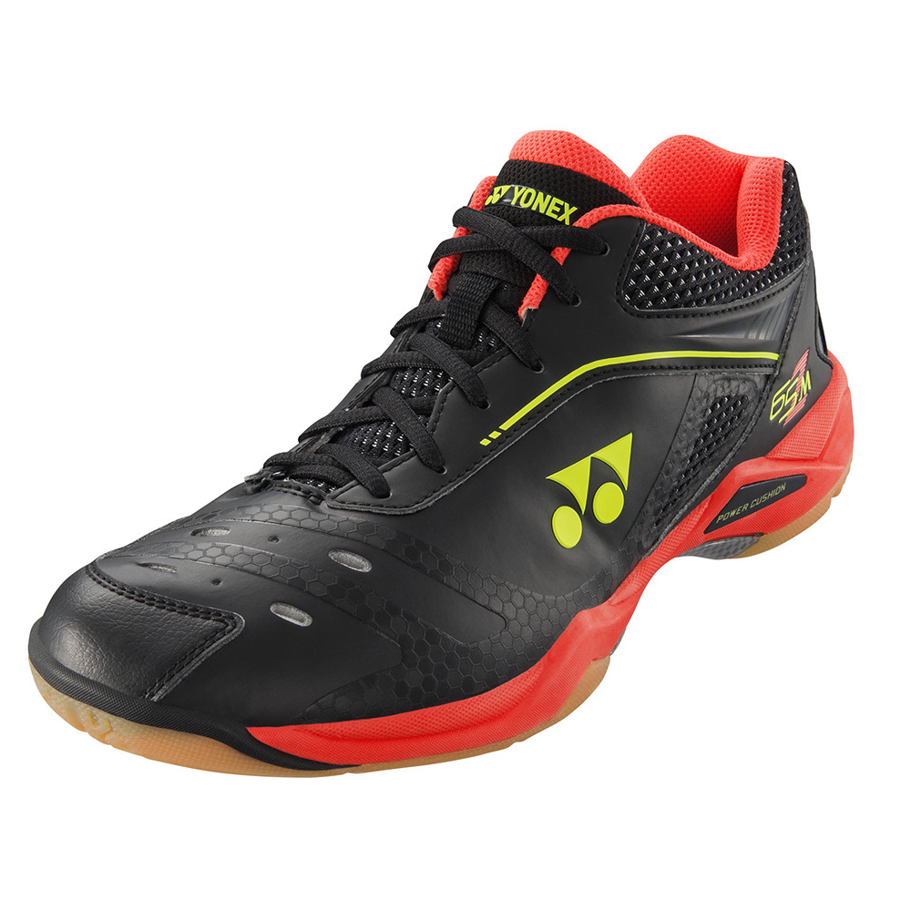 Yonex SHB Power Cushion 65Z Men Black-Bright Red