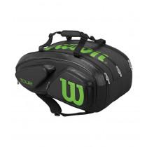 Wilson Tour V 15 Pack zwart-lime