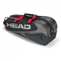 Head Elite Combi 6R zwart-rood