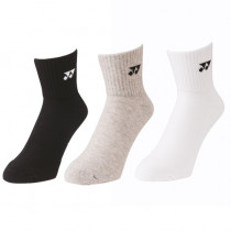 Yonex 3-Pack Basic Short Sock 19141