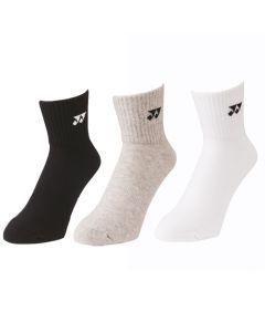 Yonex 3-Pack Basic Short Sock 19141